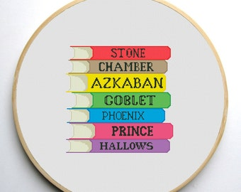 Cross stitch pattern PDF - Harry Potter Book Titles - Instant Download