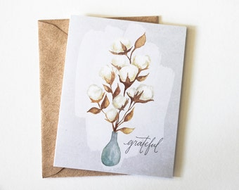 Grateful Cotton - fall - thanksgiving greeting card