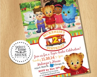 Digital File Only - Daniel Tiger Invitation