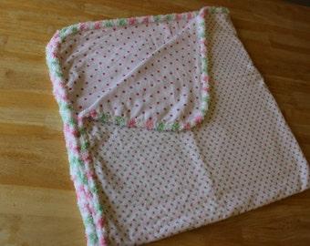 Baby Girl Receiving Blanket