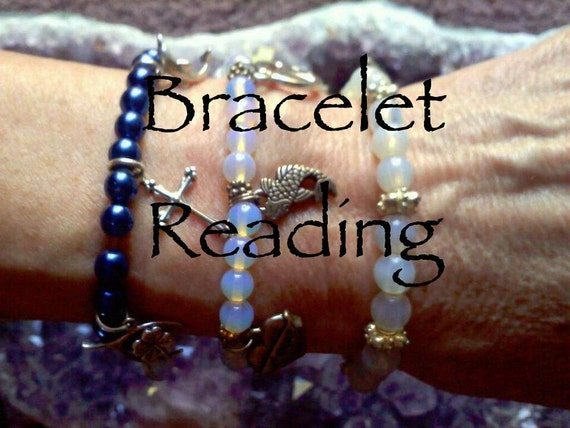Bracelet with Reading, Healing Bracelet, Psychic Reading, Beaded Bracelet, Healing Jewelry, Healing Crystal And Stones, Yoga Bracelet