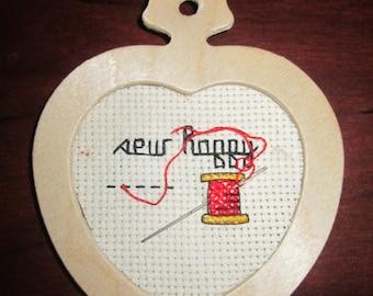 Sew Happy Heart Ornament
