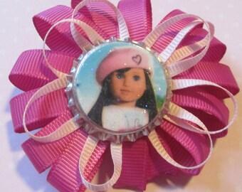 American Girl Doll Bottlecap Hair Bow