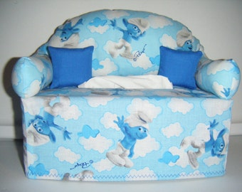 Smurfs   Tissue Box Couch Cover