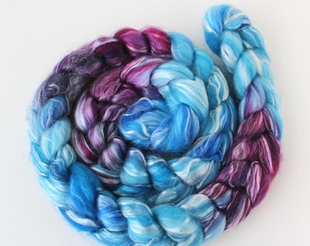 Merino Tencel Top Roving - SABINE - Hand dyed 100 grams