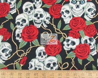 "100% Cotton Fabric By Alexander Henry - The Rose Tattoo - Sold By The Yard  - 45"" Width (FH-2342)"