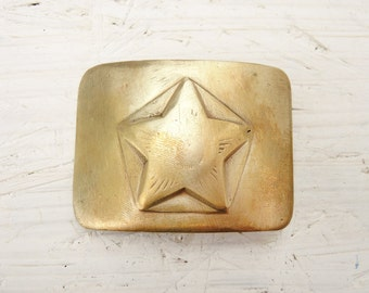 Brass Buckle - Vintage Military Buckle