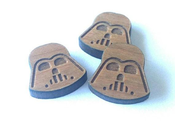 8 Pieces. Laser Cut Cherrywood Vader shapes. Craft Supplies.  DIY Supplies
