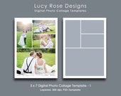 5 x 7 Photo Collage Template - 1