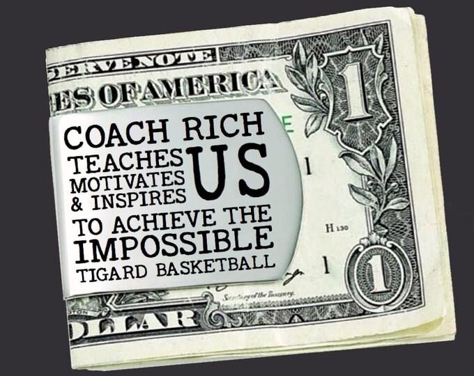 Basketball Coach | Basketball | Coach Gift | Gift for Coach | Coach Appreciation | Appreciation Gift | Custom Money Clip | Korena Loves
