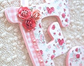 Custom nursery letters baby name wooden wall letters shabby chic nursery decor- The Rugged Pearl