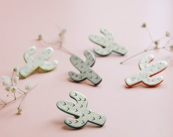 CACTUS PIN Blue Milky Way • tropical • pins • cute • summer jewels • cactus • lovely