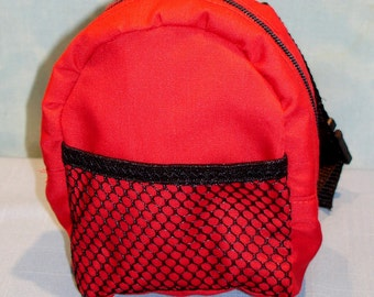 18 Inch Doll Red Backpack handmade by Jane Ellen for 18 inch dolls