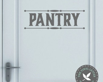 Pantry Style 2 Kitchen Vinyl Wall Decor Decal Sticker