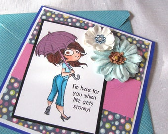 Friendship Card, Girlfriend Card, Whimsical Card, Encouragement card