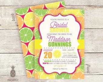 Citrus Bridal Shower Invitations