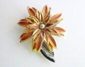 Reserved for Vonda Vintage Flower Brooch