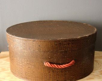 Vintage Faux Snakeskin Hatbox