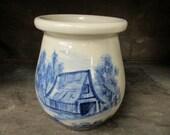 Paul Storie Pottery Marshall Texas Blue Barn Crock Jar