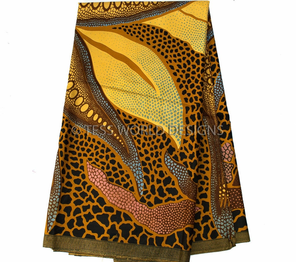 High Quality Brown Traditional African Wedding Fabric Sold Per