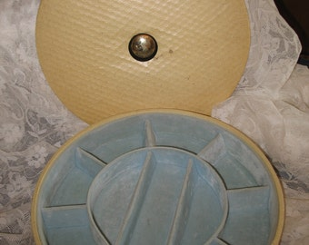 Round, Swivel, jewelry, vintage jewelry box storage jewelry box