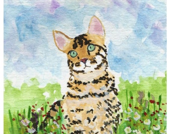 Bengal Cat Art Print #227
