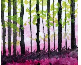Scottie Dog 'In Raspberry Forest'  Art Print #92