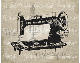 Antique sewing machine Mannequin Instant clip art Digital download image for Decoupage Paper Iron on fabric burlap pillow tote No. gt212