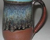 Pottery Mug, XL 20 oz in Rainforest Green, Handmade, Microwave Dishwasher Safe