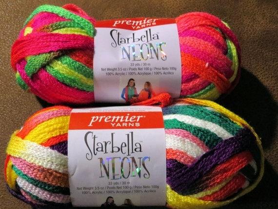 Starbella Neons Premier Yarns Supply Destash. New skeins. 1 skein ...