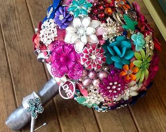 DEPOSIT | Custom Brooch Bouquet | Wedding Bouquet | Jeweled Bouquet | Alternative Bouquet