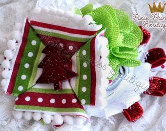 Christmas Time - Headband, Baby Headband, Photography Prop, Couture Headband, Christmas Headband, Holiday Headband, Christmas Tree
