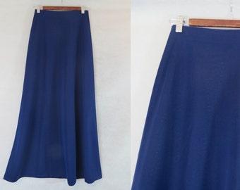 Blue Maxi Skirt - 1960s