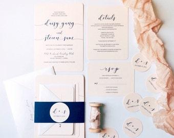 Modern Romance Wedding Invitation, Invite Suite