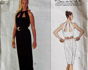 Dress by Oscar de la Renta - 1990's- Vogue 1267  Uncut Size 6-8-10  Bust  30.5-31.5-32.5""