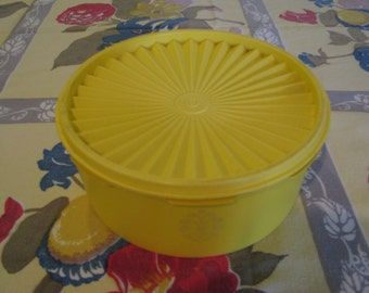 Vintage Yellow Tupperware Canister