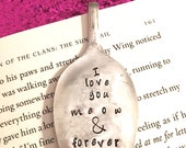 I love you meow and forever spoon bookmark