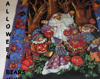 HALLOWEEN,  BEARS, PARTY, Holiday Decor,  Mini Quilt,  Home Décor,  Hostess Gift, Gift for Children, Gift for Women, Fall Decor