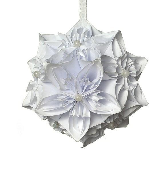 Personalisierte origami kusudama kugel 1 von amberglassart - Christbaumkugel englisch ...
