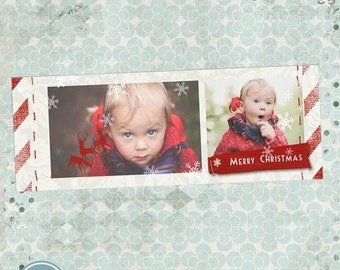 ON SALE Christmas Timeline Cover PSD Template - Instant Download