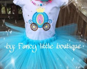 Princess  tutu  set Aqua blue birthday