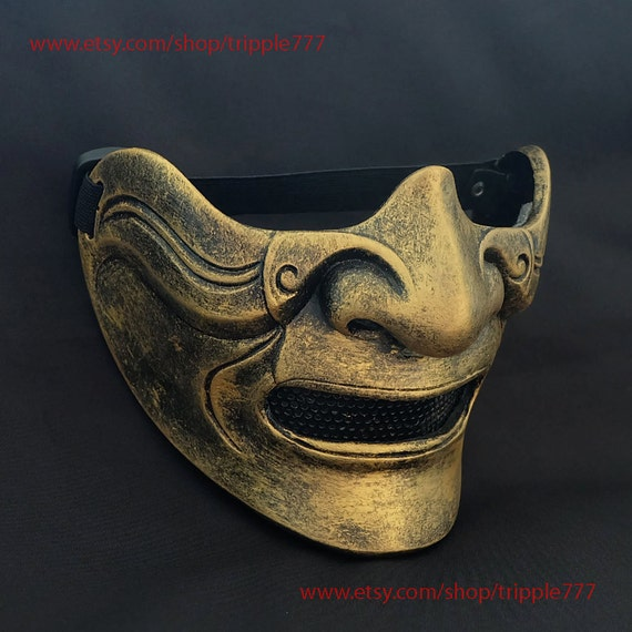 Half Cover Knight Samurai Mask Airsoft Mask Halloween