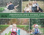 Photography Christmas Snow Overlays, Winter Photo Overlays, INSTANT DOWNLOAD