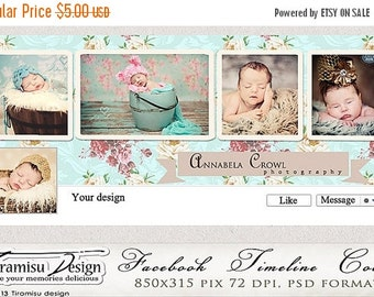 ON SALE Facebook Timeline Cover Photoshop Template  vol.9-Chabby Chic, INSTANT Download