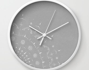 Minimal Grey Wall Clock, grey wall clock, gray wall clock, minimal clock, modern wall clock, nursery wall clock, light grey clock