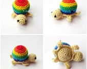 Crochet Turtle beads Necklace findings Diy Baby ToySupplies-CHOOSE YOUR COLOR