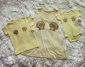 Merbaby Onesie / Yellow / Mermaid Baby / Hawaii / Keiki / Beach / Funny Baby Gift / Baby Shower / Matching Baby / Mommy and Me / Whimsy