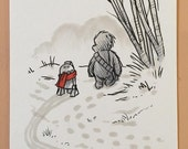"Original, signed ""Wookiee the Chew"" drawing - ""The Hunt"" by James Hance"