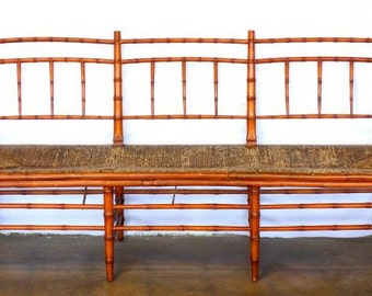 Antique Faux Bamboo Bench SALE