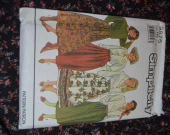 Simplicity 9876 Misses Pleated Skirts Sewing Pattern UNCUT - Size 6 - 14